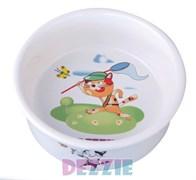 "Dezzie - Миска для кошек ""Охотник"", 150 мл, 10*10*4 см керамика"