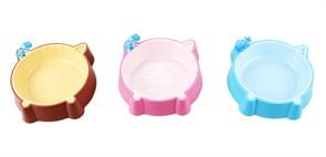 Dezzie - Миска для кошек, 150 мл 15,5*13,3*3,2 см, пластик (цвет в ассортименте)