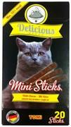 Tomi - Мини палочки для кошек 20 шт (с сыром) Delicious Mini Sticks