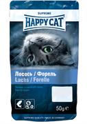Happy Cat - Лакомое угощение (с лососем и форелью)