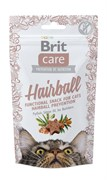 Brit - Лакомство для кошек для вывода комков шерсти Care Hairball