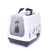 Moderna - Туалет-домик Trendy Cat с угольным фильтром и совком, 50х41х39см, бело-черный
