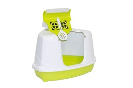 Moderna - Туалет-домик угловой Flip с угольным фильтром, 55х45х38см, салатовый