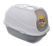 Moderna - Туалет-домик Mega Comfy с совком и угольным фильтром, 50х47х60, серый