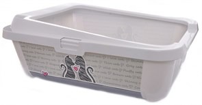 """Moderna - Туалет-лоток """"Влюбленные коты"""" с бортами, 51х39х19см (Cats in love)"""
