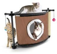 """Kitty City - Игровой комплекс с когтеточкой для кошек Сонное царство """"Sleepy Corner"""", 44*45*45см"""