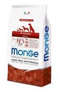 Monge - Сухой корм для собак всех пород (ягнёнок с рисом и картофелем) Dog Speciality Line