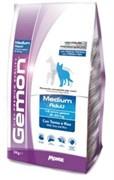 Gemon Dog - Сухой корм для взрослых собак средних пород (тунец с рисом) Medium