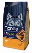 Monge - Сухой корм для взрослых собак всех пород с мясом страуса Bwild Dog Ostrich