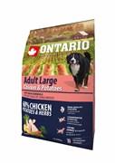 Ontario - Сухой корм для собак крупных пород (с курицей и картофелем) Large, Chicken & Potatoes