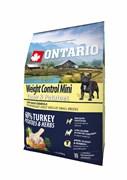 Ontario - Сухой корм для собак малых пород Контроль веса (с индейкой и картофелем) Mini Weight Control Turkey & Potatoes