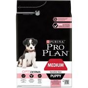 Purina Pro Plan - Сухой корм для щенков средних пород с чувствительной кожей (с лососем и рисом) OPTIDERMA