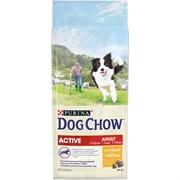 Purina Dog Chow - Сухой корм для взрослых активных собак старше 1 года (с курицей)