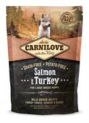 CarniLove - Сухой беззерновой корм для щенков крупных пород (лосось) Puppy Large Breed Salmon &Turkey