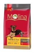 Molina - Сухой гипоаллергенный корм для собак всех пород (с ягненком и рисом) Adult Lamb & Rice