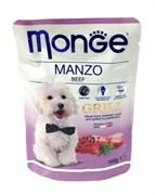 Monge - Паучи для собак (говядина) Dog Grill Pouch