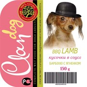 """Clan - Консервы для собак (кусочки в соусе """"Барбекю с ягненком"""")"""