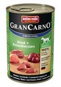 Animonda - Консервы для взрослых собак (с говядиной и сердцем утки) GranCarno Original Adult