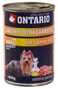 Ontario - Консервы для собак (с курицей и морковью) Chicken With Carrots, Salmon Oil