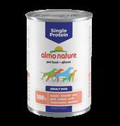 Almo Nature - Консервы для собак с чувствительным пищеварением (со Свининой) Single Protein Pork