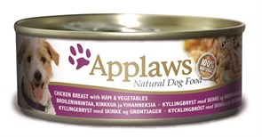 Applaws - Консервы для собак (с курицей, ветчиной и овощами) Dog Chicken, Ham and Vegetables