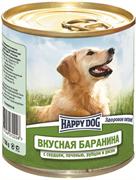 Happy Dog - Консервы для собак (с бараниной, сердцем, печенью, рубцом и рисом)