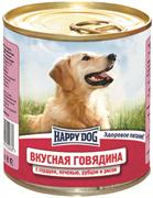 Happy Dog - Консервы для собак (с говядиной, сердцем, печенью, рубцом и рисом)