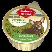 """Родные Корма - Консервы для собак """"Кролик по-стрелецки"""""""