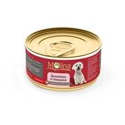 """Molina - Консервы для собак """"Цыпленок с говядиной в желе"""""""