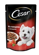 Cesar - Паучи для собак (из говядины с овощами)