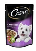 Cesar - Паучи для собак (с ягненком и овощами)