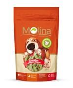 """Molina - Лакомство для собак мелких пород """"Куриные полоски со шпинатом"""""""