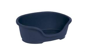 Moderna - Лежак domus пластиковый 110см, 125х80х35, королевский синий
