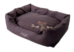 """Rogz - Лежак с бортиком и двусторонней подушкой """"Кофейные косточки"""", малый (56x35x22 см) SPICE POD MOCHA BONE"""