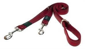 Rogz - Поводок-перестежка, красный (размер M - ширина 1,6 см, длина 1-1,3-1,6 м) UTILITY MULTI PURPOSE LEAD