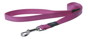 Rogz - Поводок, розовый (размер M - ширина 1,6 см, длина 1,4 м) UTILITY FIXED LEAD
