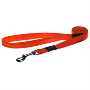 Rogz - Поводок, оранжевый (размер S - ширина 1,1 см, длина 1,8 м) UTILITY FIXED LEAD