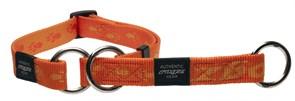 Rogz - Полуудавка строгая, оранжевый (размер L (34-56 см), ширина 2 см) ALPINIST WEB HALF CHECK COLLAR