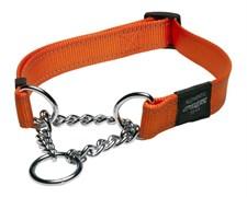 Rogz - Полуудавка строгая, оранжевый (размер М (32-44 см), ширина 1,6 см) UTILITY OBEDIENCE HALF CHECK COLLAR