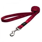 Rogz - Удлиненный поводок, красный (размер M - ширина 1,6 см, длина 1,8 м) ALPINIST FIXED LONG LEAD