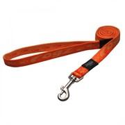 Rogz - Удлиненный поводок, оранжевый (размер М - ширина 1,6 см, длина 1,8 м) ALPINIST FIXED LONG LEAD