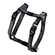 """Rogz - Шлейка для собак малых пород """"Черные косточки"""" (размер M (40-70 см), ширина 16 мм) H-HARNESS"""