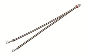 Flexi - Ремень-сворка для двух маленьких собак, размер S (коричневая) Vario Duo Belt brown