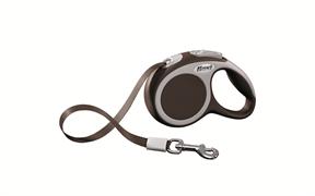 Flexi - Рулетка-ремень для собак, размер XS - 3 м до 12 кг (коричневая) Vario tape brown