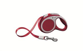Flexi - Рулетка-ремень для собак, размер XS - 3 м до 12 кг (красная) Vario tape red