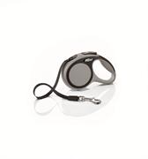 Flexi - Рулетка-ремень для собак, размер XS - 3 м до 12 кг (серая) New Comfort Tape grey