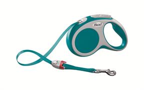 Flexi - Рулетка-ремень для собак, размер S - 5 м до 15 кг (бирюзовая) Vario tape turquoise
