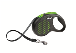 Flexi - Рулетка-ремень для собак, размер S - 5 м до 15 кг (зеленая) Design Tape green