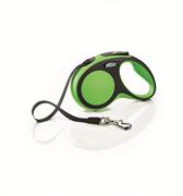 Flexi - Рулетка-ремень для собак, размер S - 5 м до 15 кг (зеленая) New Comfort Tape green