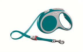 Flexi - Рулетка-ремень для собак, размер M - 5 м до 25 кг (бирюзовая) Vario tape turquoise